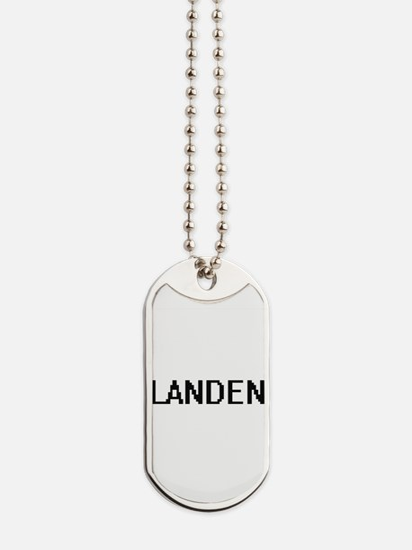 Landen Digital Name Design Dog Tags