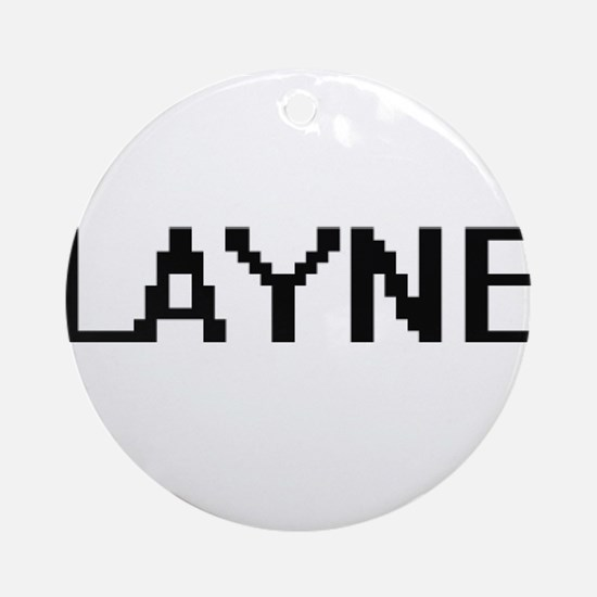 Layne Digital Name Design Ornament (Round)