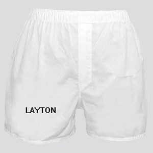 Layton Digital Name Design Boxer Shorts