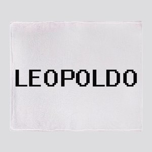 Leopoldo Digital Name Design Throw Blanket