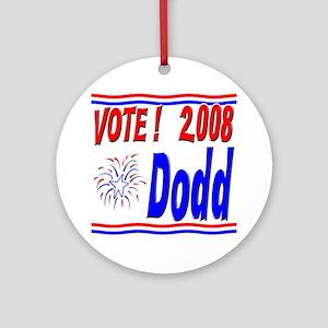 Vote Dodd Ornament (Round)