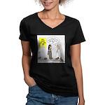 Medical Pot Pie Women's V-Neck Dark T-Shirt