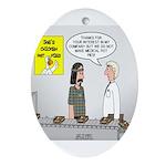 Medical Pot Pie Oval Ornament