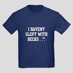 Slept With Becks Kids Dark T-Shirt