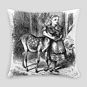 vintage alice in wonderland deer f Everyday Pillow