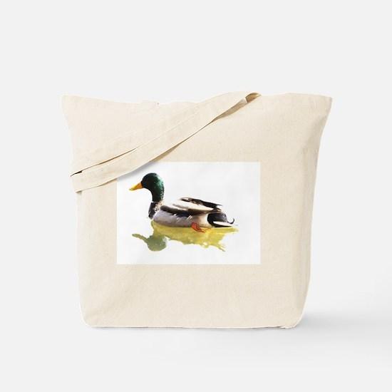 Self Reflection Mallard Tote Bag