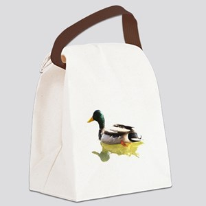 Self Reflection Mallard Canvas Lunch Bag
