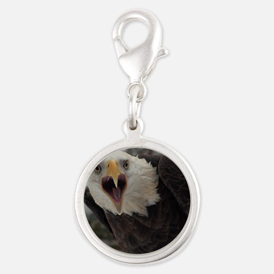 Bald Eagle Silver Round Charm