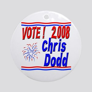 Vote Chris Dodd Ornament (Round)