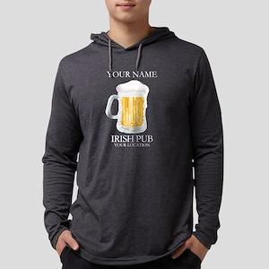 Irish Pub Personalized Mens Hooded Shirt