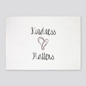 Kindness Matters Heart 5'x7'Area Rug