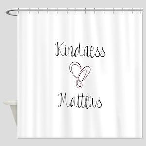 Kindness Matters Heart Shower Curtain