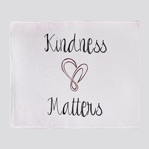 Kindness Matters Heart Throw Blanket