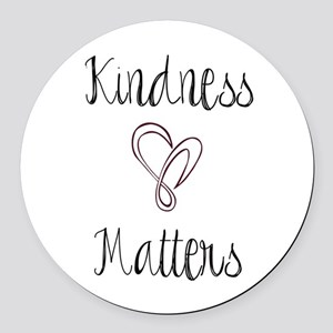 Kindness Matters Heart Round Car Magnet