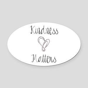 Kindness Matters Heart Oval Car Magnet