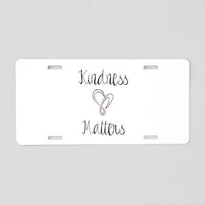 Kindness Matters Heart Aluminum License Plate