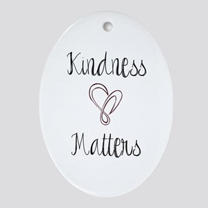 Kindness Matters Heart Ornament (Oval)