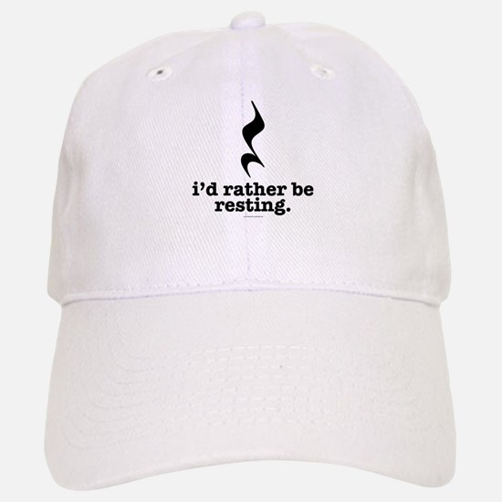 I'd Rather Be Resting Baseball Baseball Cap
