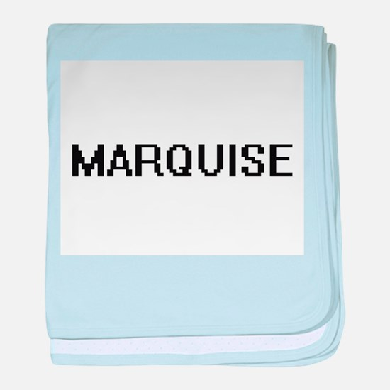Marquise Digital Name Design baby blanket