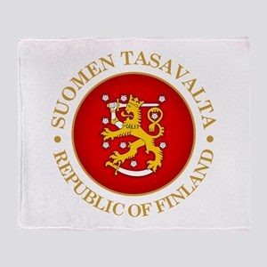 Republic of Finland Throw Blanket