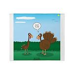 Turkey Diet Throw Blanket