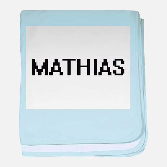 Mathias Digital Name Design baby blanket