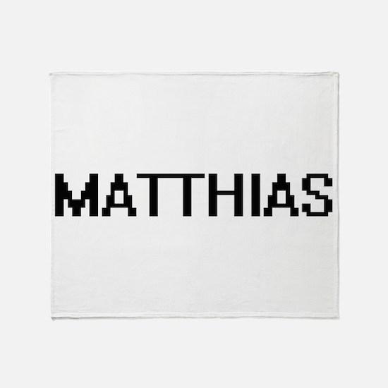 Matthias Digital Name Design Throw Blanket
