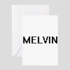 Melvin Digital Name Design Greeting Cards