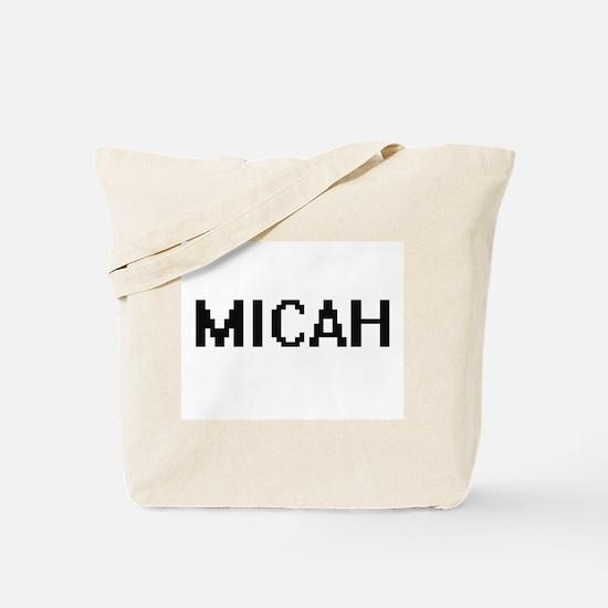 Micah Digital Name Design Tote Bag