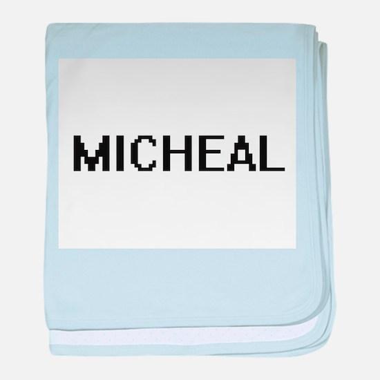 Micheal Digital Name Design baby blanket