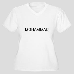 Mohammad Digital Name Design Plus Size T-Shirt