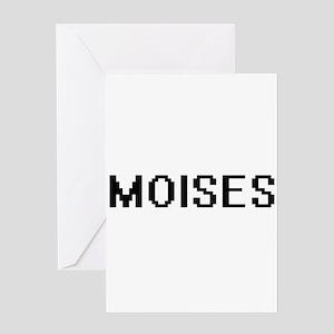 Moises Digital Name Design Greeting Cards