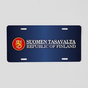Republic of Finland Aluminum License Plate