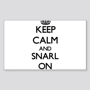 Keep Calm and Snarl ON Sticker