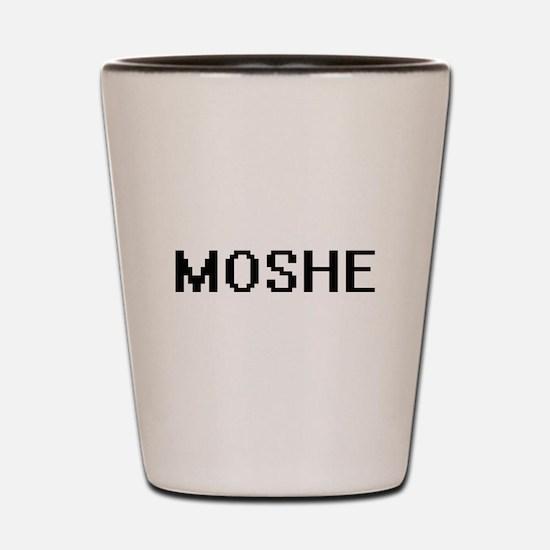 Moshe Digital Name Design Shot Glass