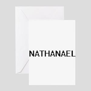 Nathanael Digital Name Design Greeting Cards