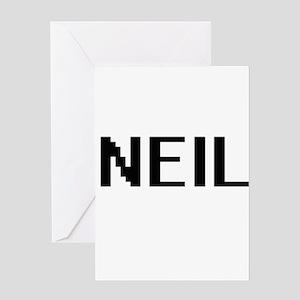 Neil Digital Name Design Greeting Cards