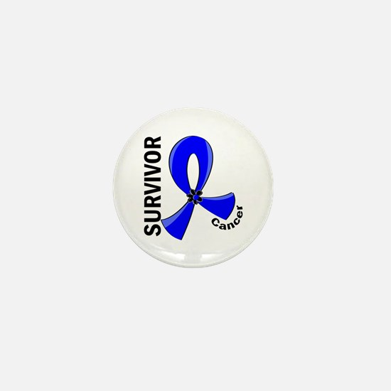 Rectal Cancer Survivor 12 Mini Button