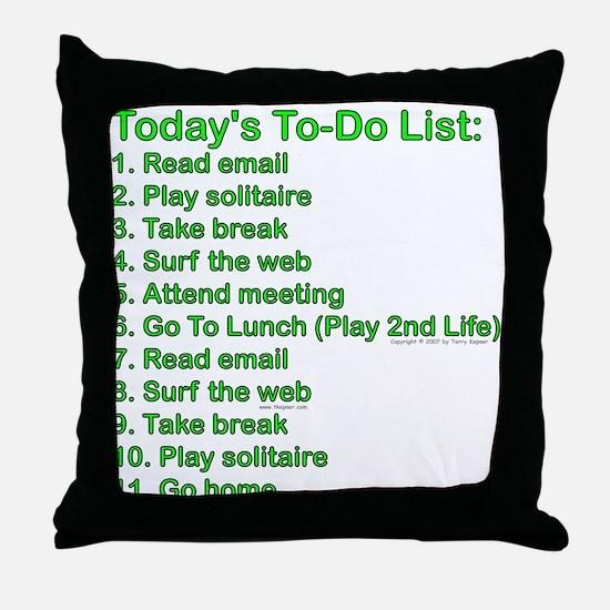 To-Do List: Throw Pillow