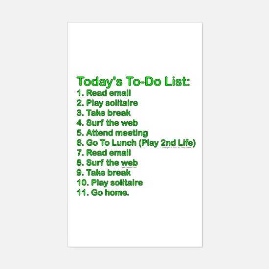 To-Do List: Rectangle Decal