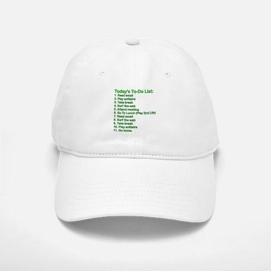 To-Do List: Baseball Baseball Cap