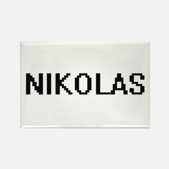 Nikolas Digital Name Design Magnets