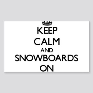 Keep Calm and Snowboards ON Sticker