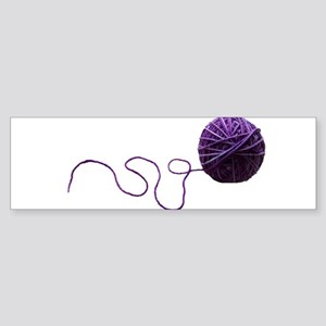 Purple Yarn Ball Bumper Sticker