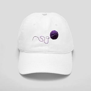 Purple Yarn Ball Baseball Cap