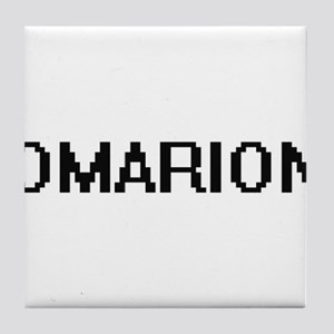 Omarion Digital Name Design Tile Coaster