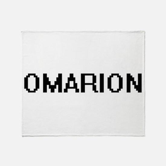 Omarion Digital Name Design Throw Blanket