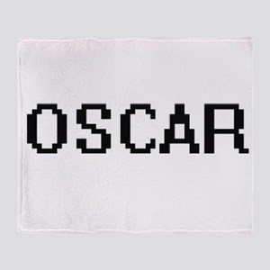 Oscar Digital Name Design Throw Blanket