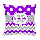 Grey chevron Burlap Pillows