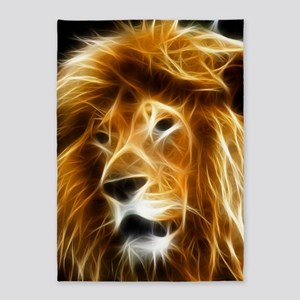 Abstract Lion 5'x7'Area Rug